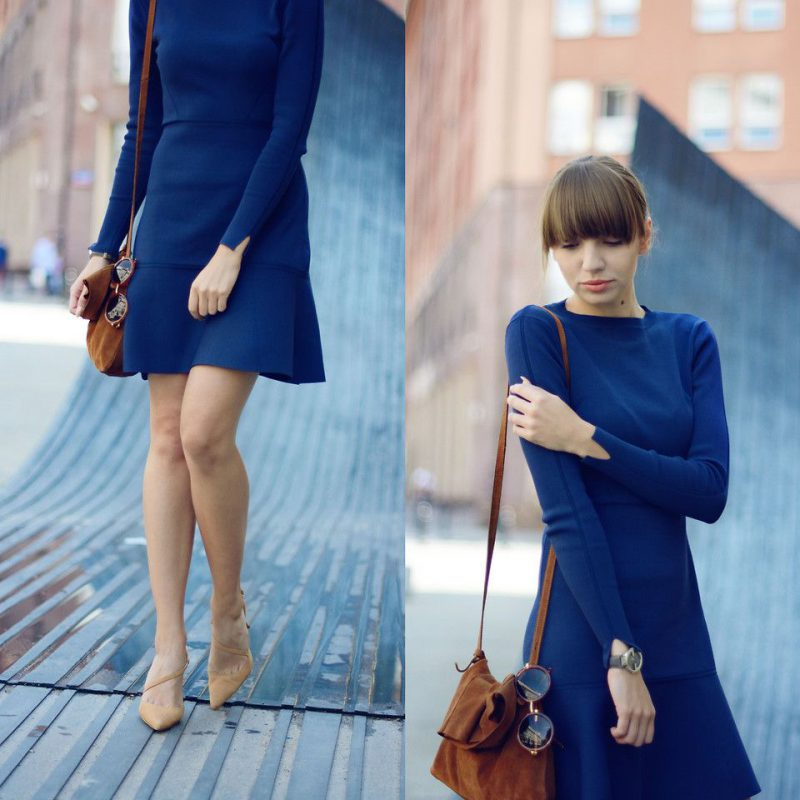 How To Wear Blue Dresses Simple Tricks And Style Tips (8)
