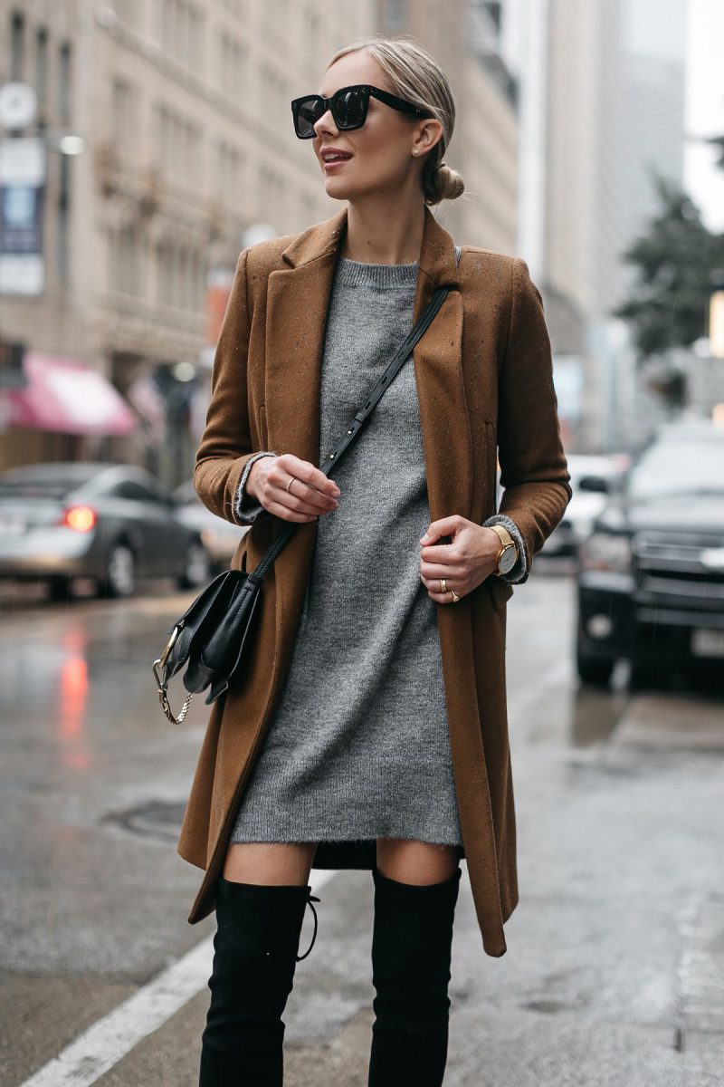 How To Wear Sweater Dresses On The Streets Best Outfit Ideas (10)