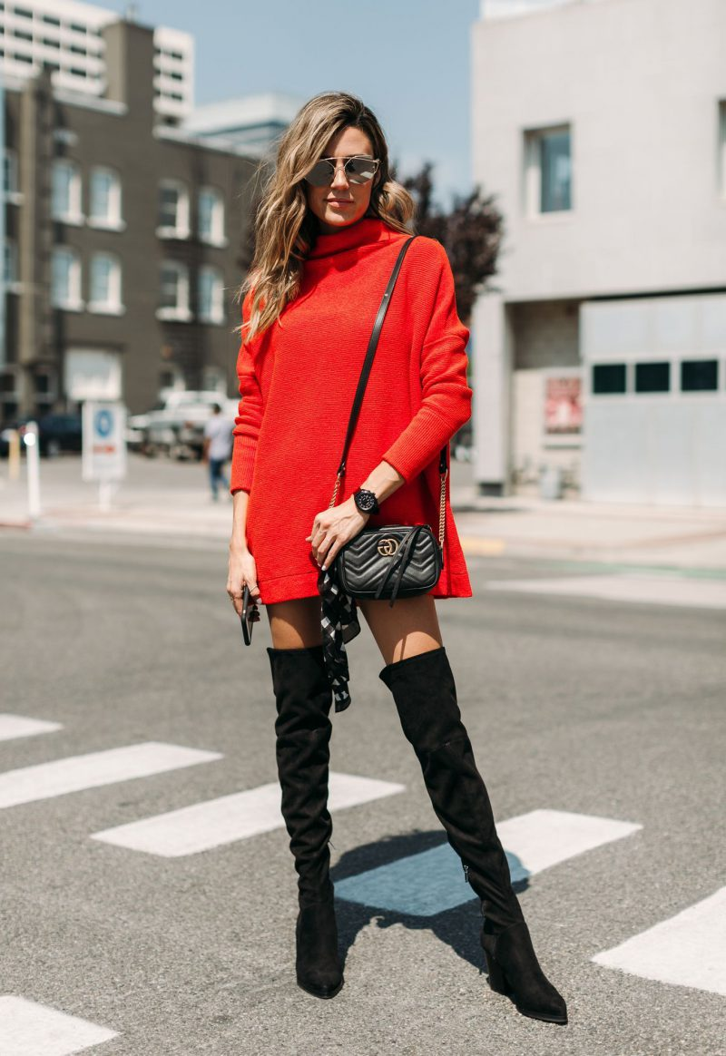 How To Wear Sweater Dresses On The Streets Best Outfit Ideas (12)
