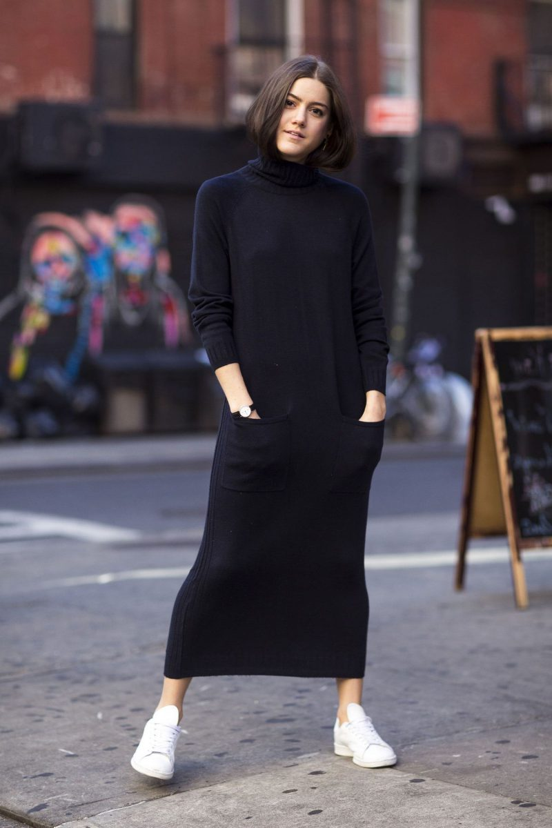 How To Wear Sweater Dresses On The Streets Best Outfit Ideas (13)