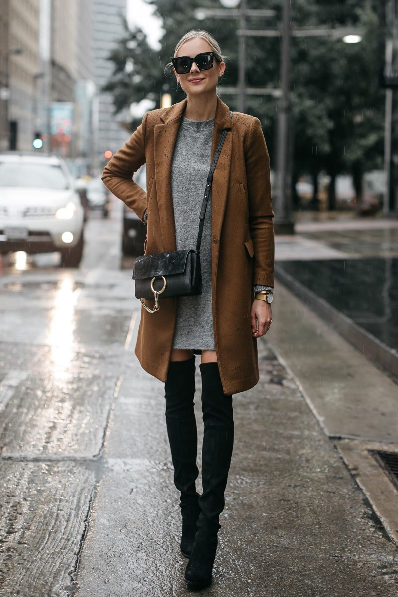 How To Wear Sweater Dresses On The Streets Best Outfit Ideas (16)