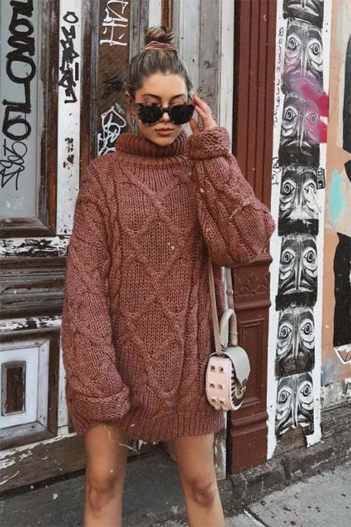 How To Wear Sweater Dresses On The Streets Best Outfit Ideas (17)