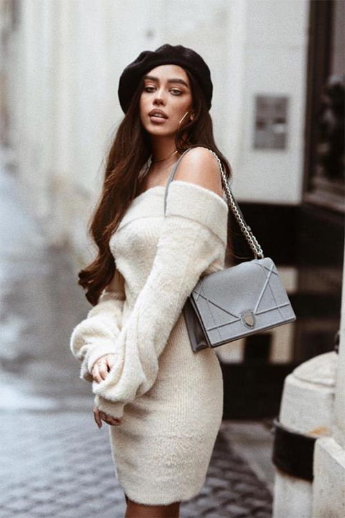 How To Wear Sweater Dresses On The Streets Best Outfit Ideas (20)