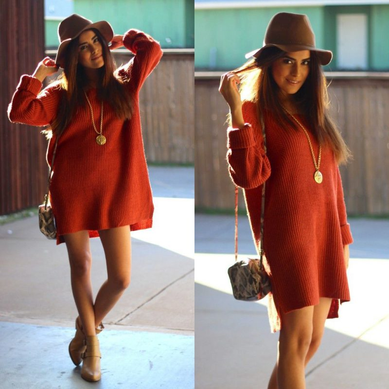 How To Wear Sweater Dresses On The Streets Best Outfit Ideas (22)