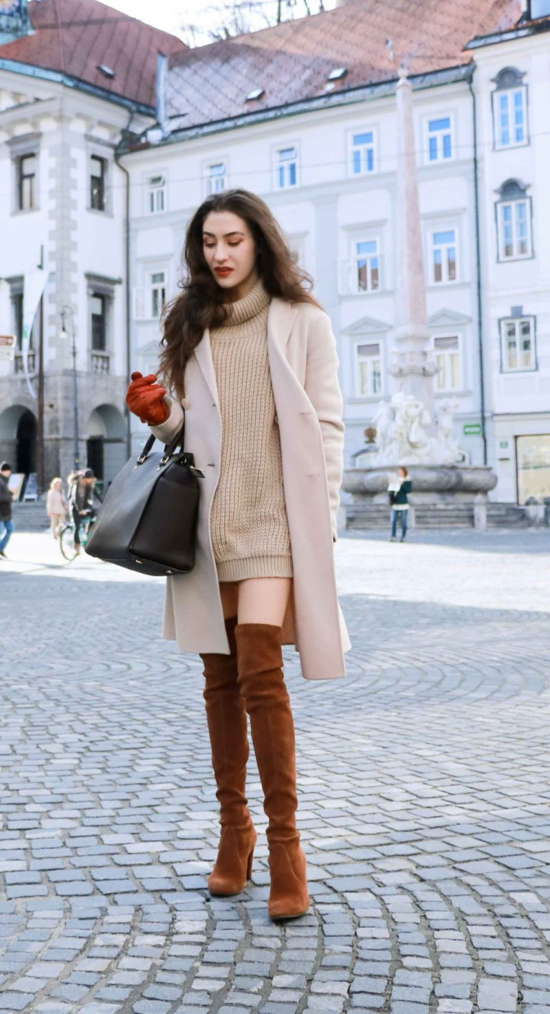 How To Wear Sweater Dresses On The Streets Best Outfit Ideas (25)