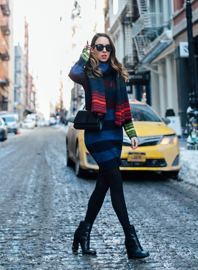 How To Wear Sweater Dresses On The Streets Best Outfit Ideas (26)