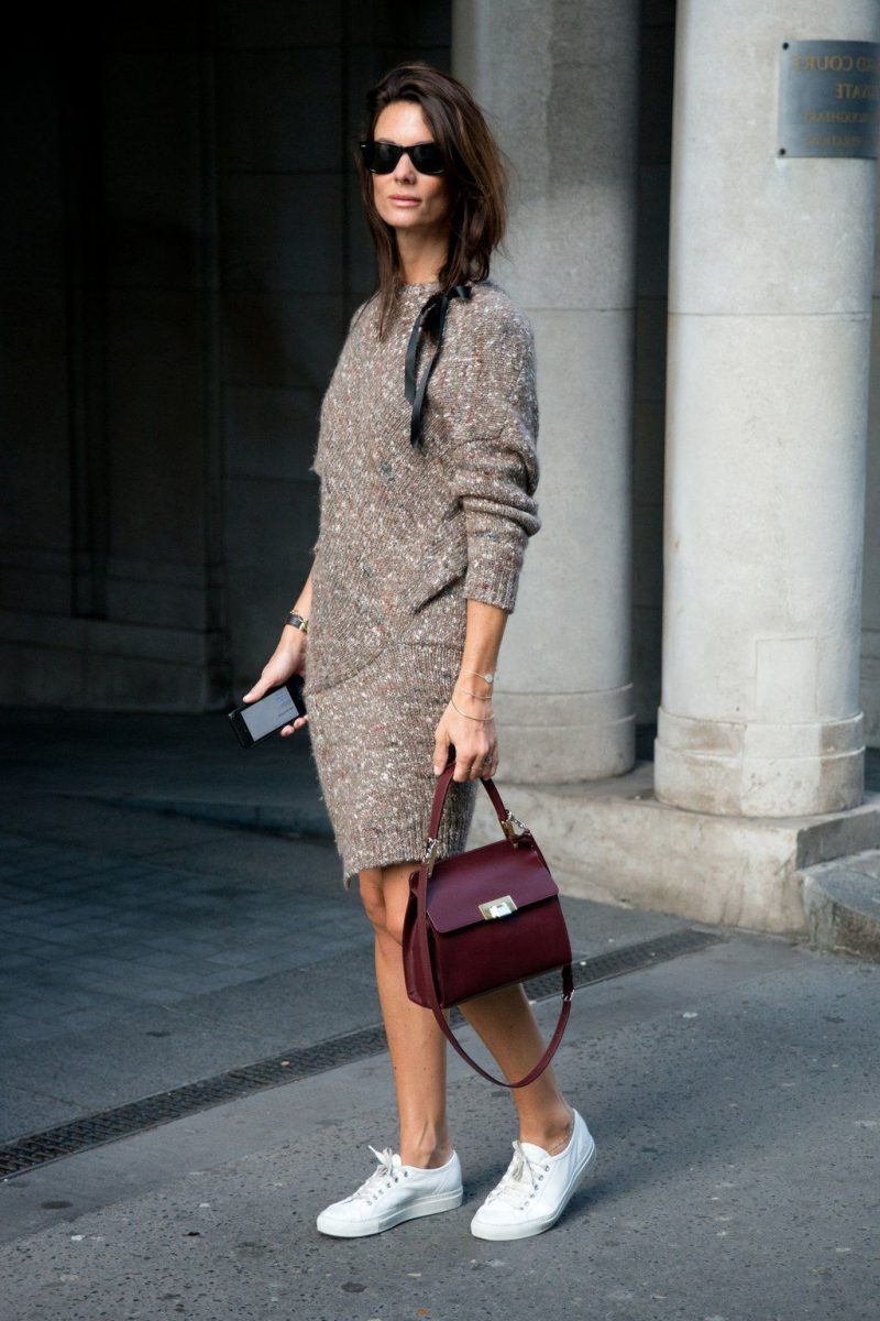 How To Wear Sweater Dresses On The Streets Best Outfit Ideas (3)