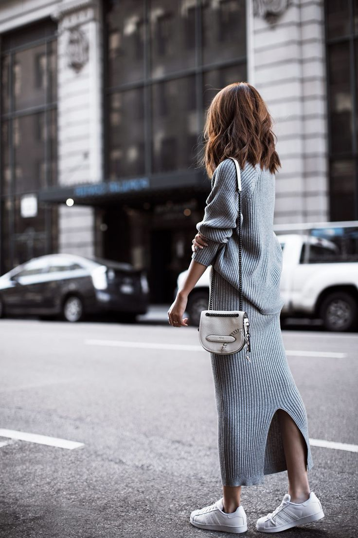 How To Wear Sweater Dresses On The Streets Best Outfit Ideas (6)