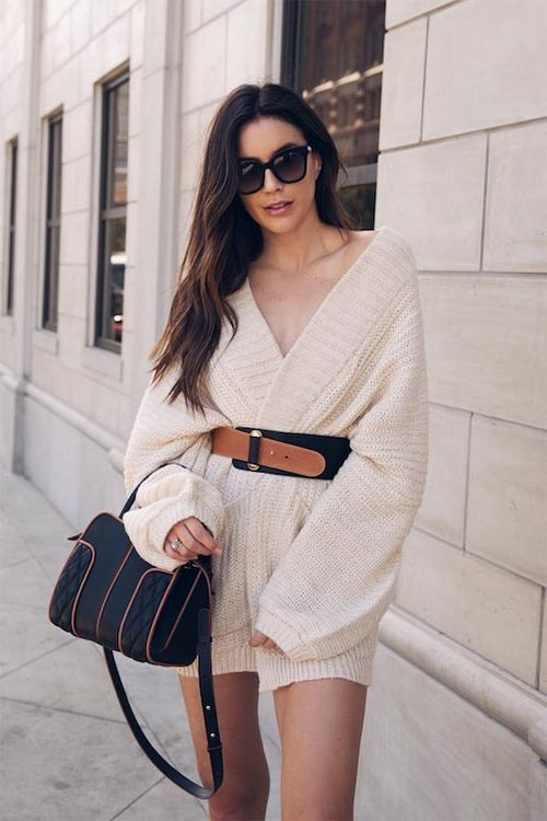How To Wear Sweater Dresses On The Streets Best Outfit Ideas (8)