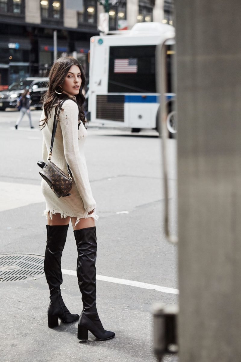 How To Wear Sweater Dresses On The Streets Best Outfit Ideas (9)