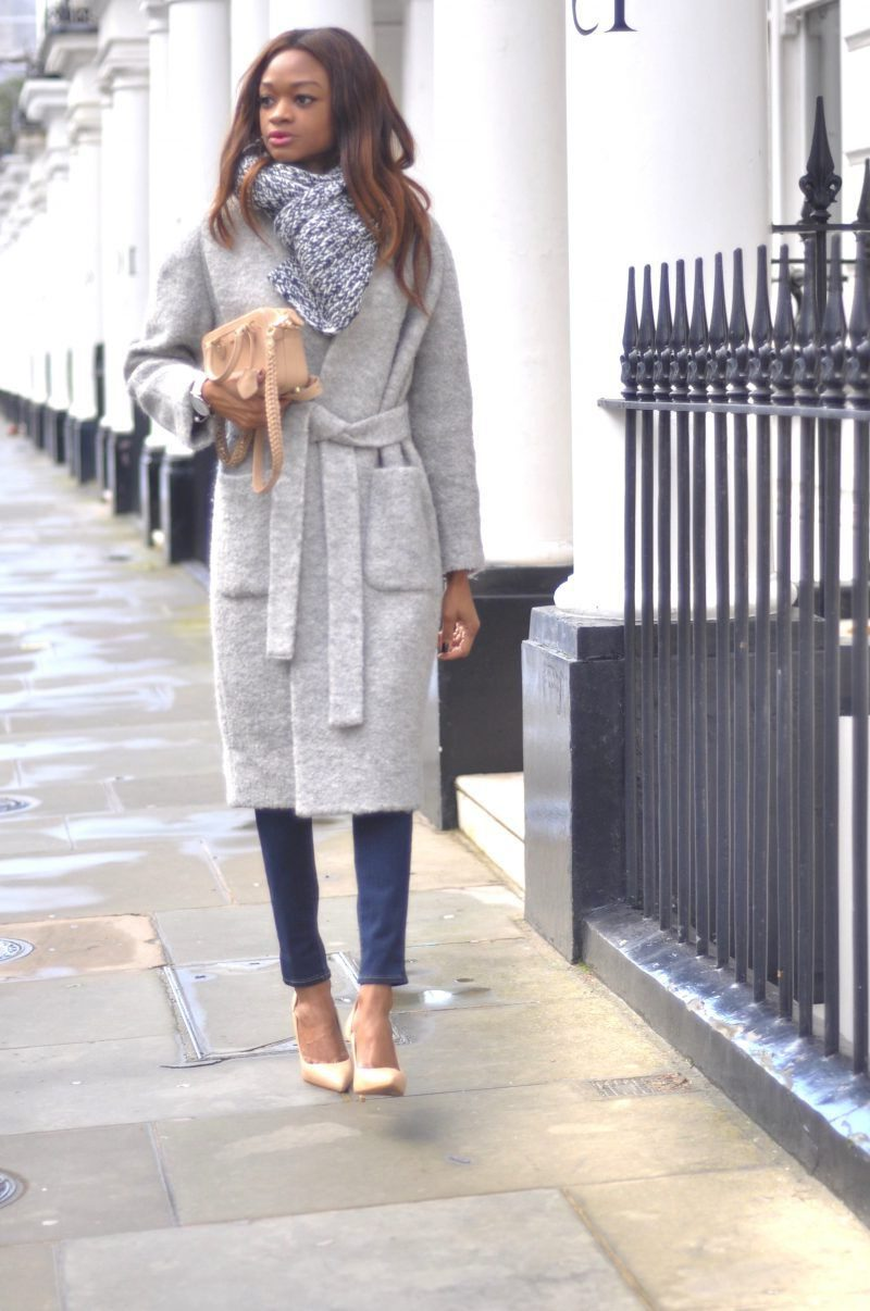 Oversized Gray Coats Simple Combos 2019