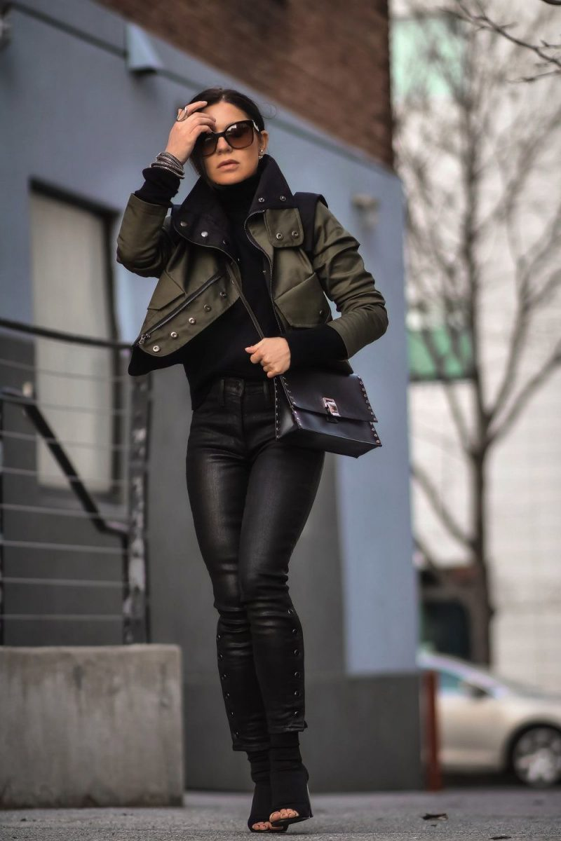 How To Wear Coated Jeans Best Street Style Looks 2019