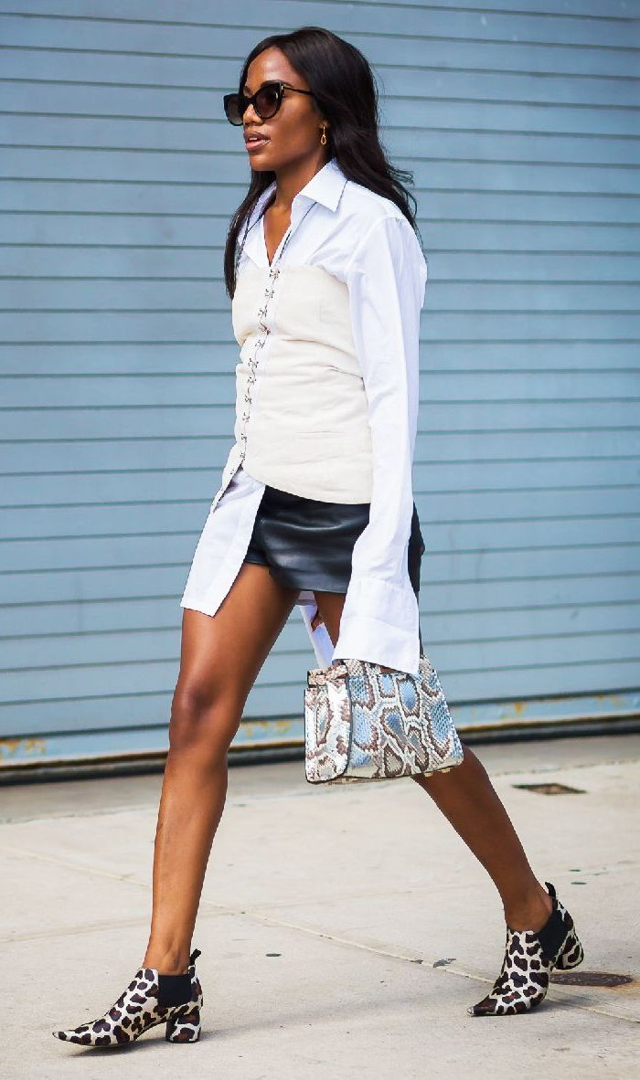 22 Ways To Wear Leather Shorts 2019