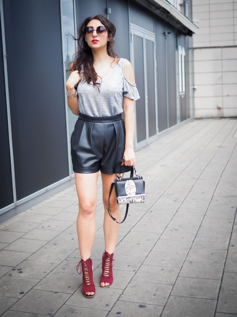 1845f56a 22 Ways To Wear Leather Shorts 2019 ⋆ FashionTrendWalk.com