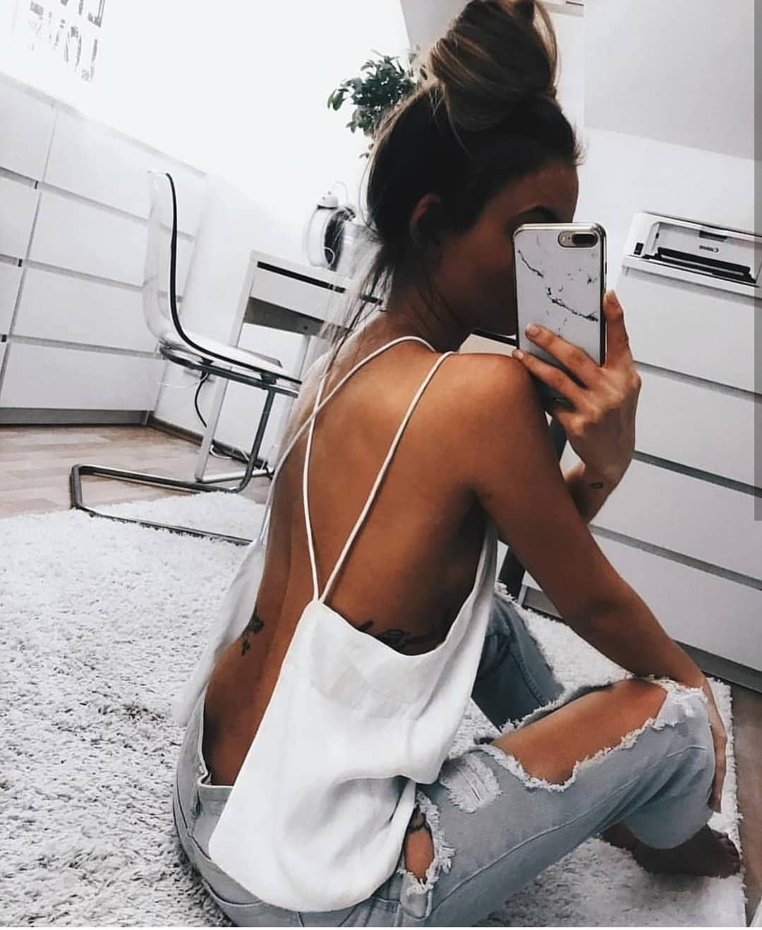 How To Wear Open Back Tank Top With Criss Cross Spaghetti Straps 2019