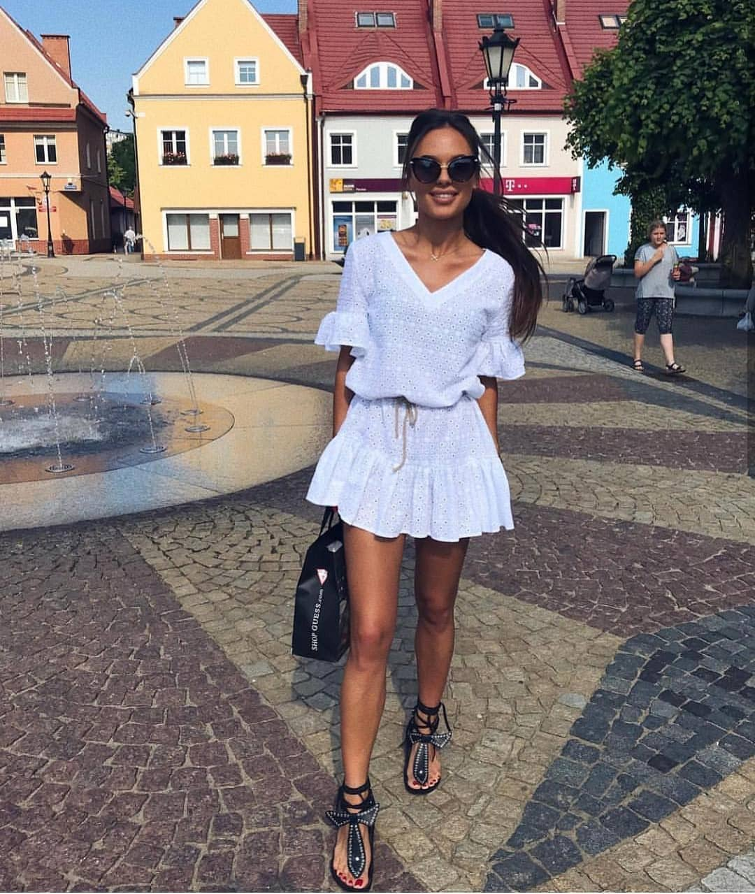 How To Style Lightweight Short Crochet White Dress This Summer 2019