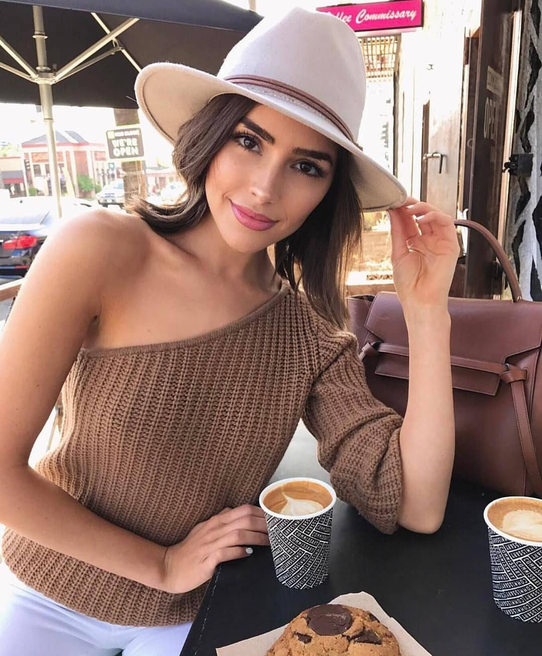 One Shoulder Cream Brown Knitted Top For Summer 2021