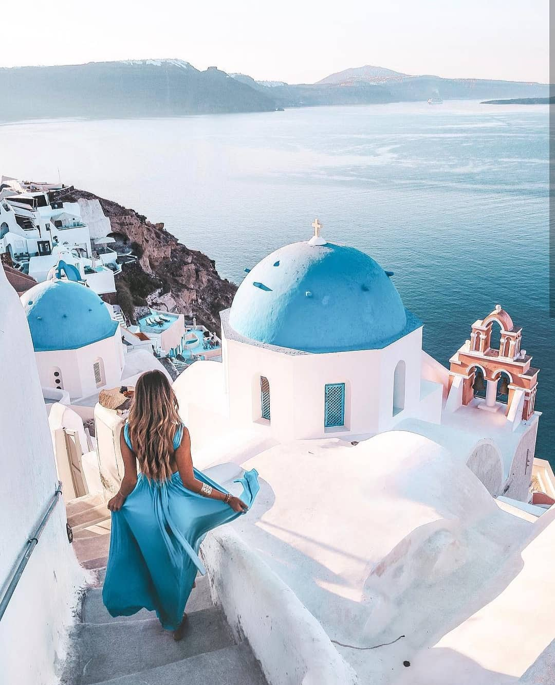Can You Wear Ocean Blue Maxi Gown In Santorini This Summer 2019