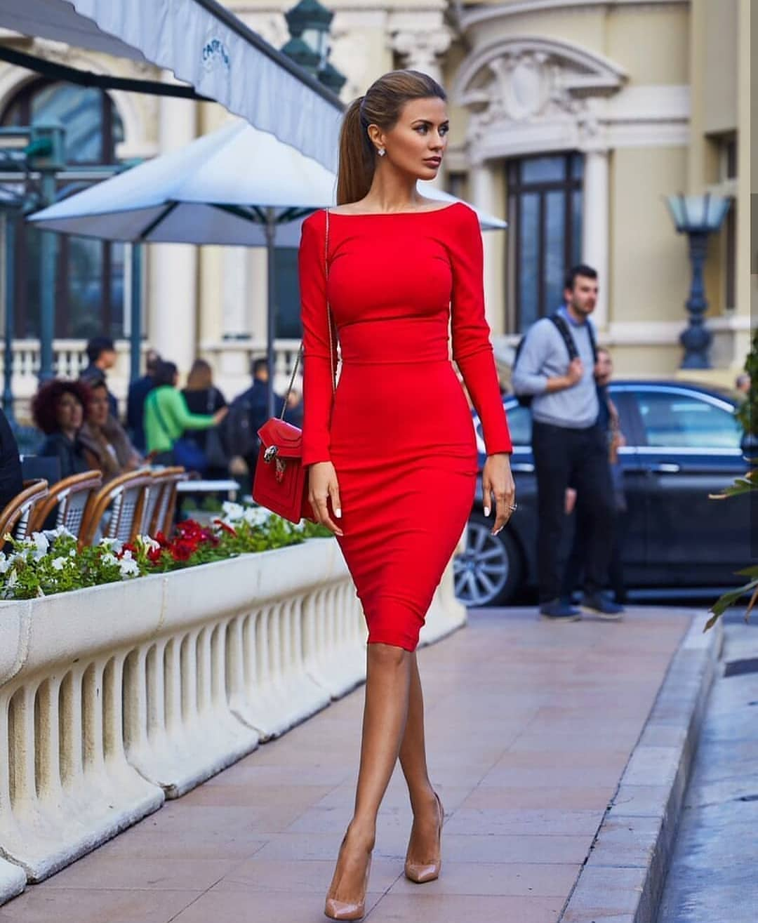 Can I Wear Boatneck Red Pencil Dress This Summer 2019