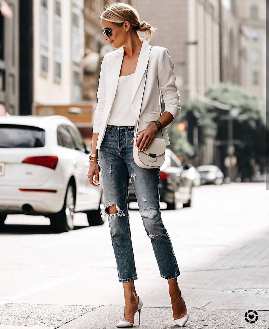 How To Wear White Heeled Pumps This Summer 2019