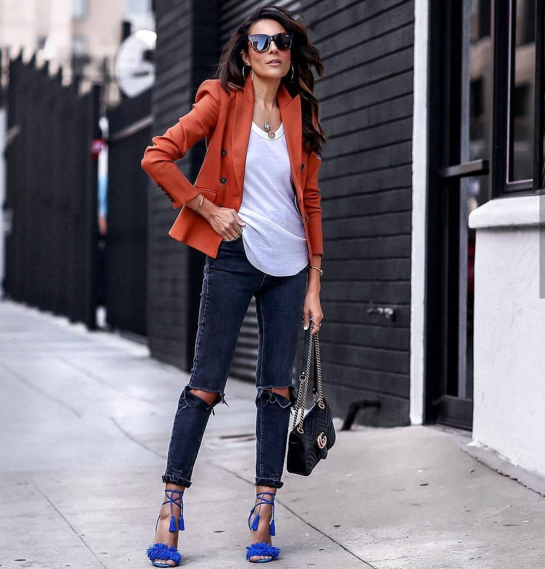 How To Wear Burnt Orange Blazer This Spring 2019