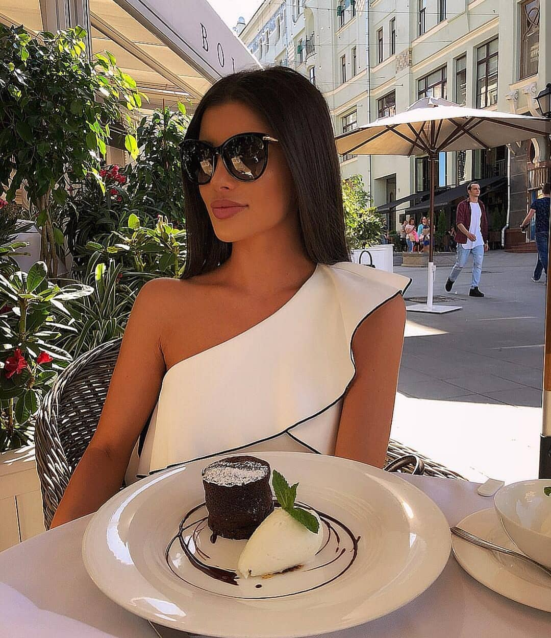 Italian Woman White Dress Outfit Idea For Summer 2020