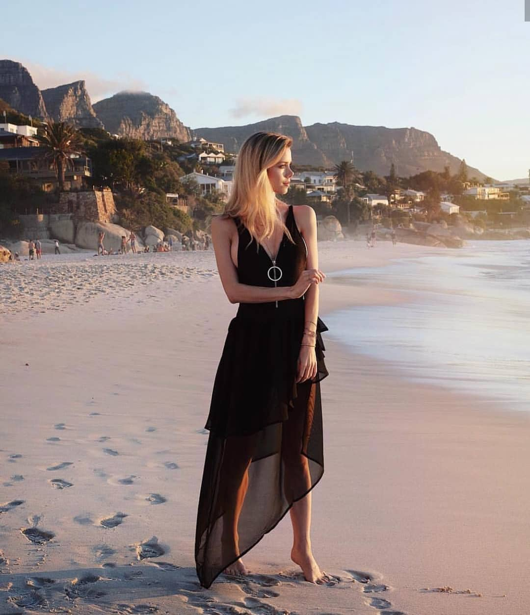 Asymmetric Layered Black Dress For Summer Getaways 2019