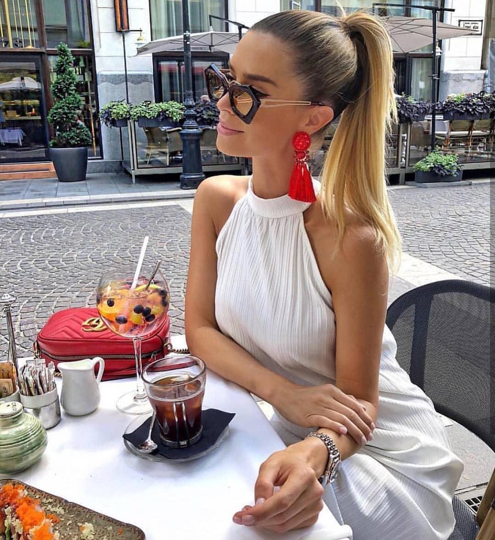 High Neck Sleeveless Dress In White For Summer 2021
