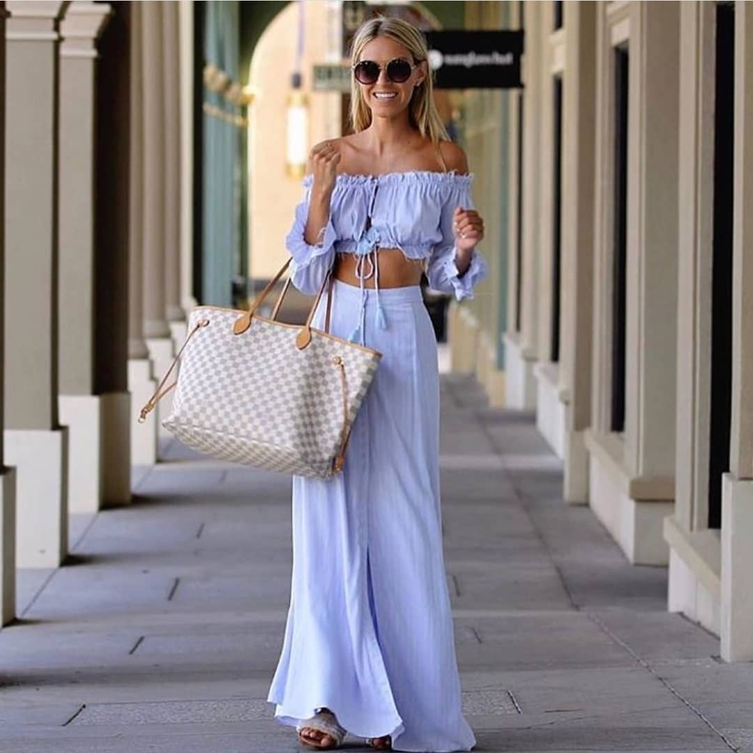 Strapless Bandeau Top And Palazzo Pants: Linen Co-ord For Hot Summer 2019
