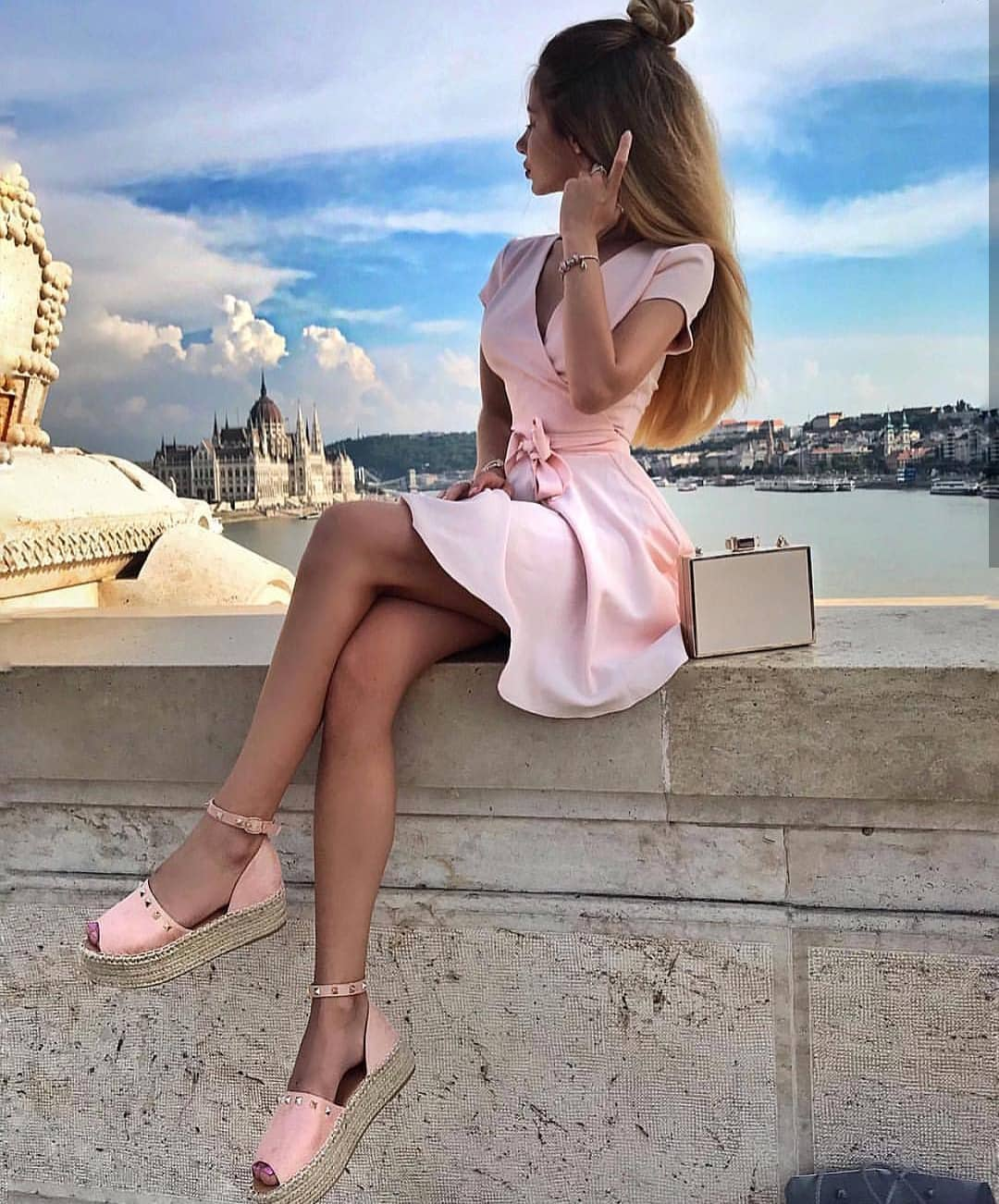 How To Style Wrap Belted Pink Dress This Summer 2020