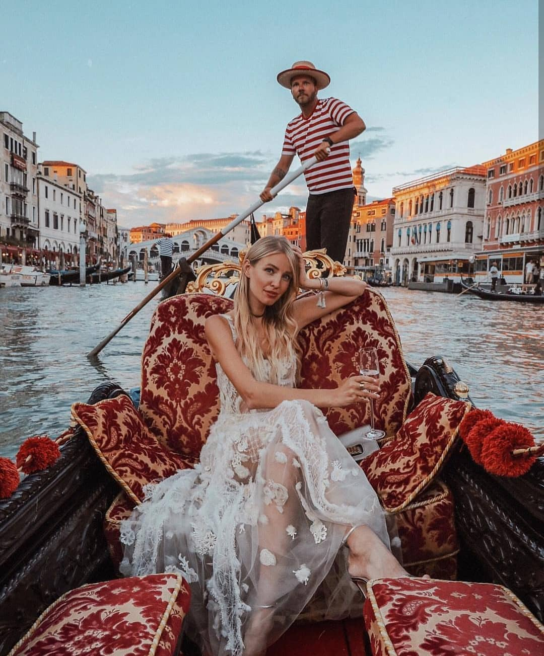 Semi-Sheer White Lace Maxi Gown For Venice Italy Trip This Summer 2020