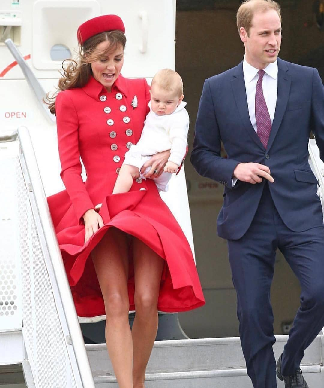 Double Breasted Coat-Dress In Red On Kate Middleton 2019