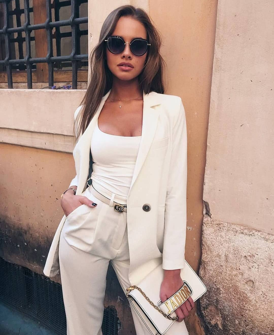 All White Pantsuit For Summer Vacation 2019