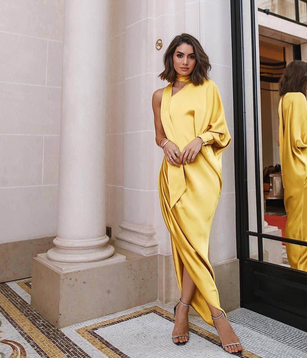 One Shoulder Golden Yellow Dress For Summer Special Events 2020