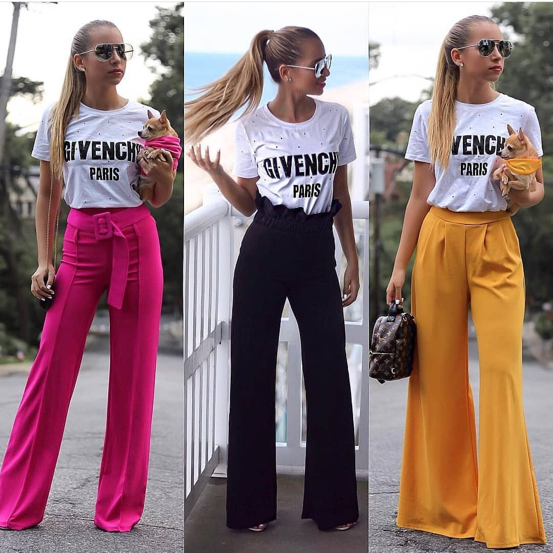 Can I Wear White T-Shirt With Wide-Leg Pants This Summer 2019
