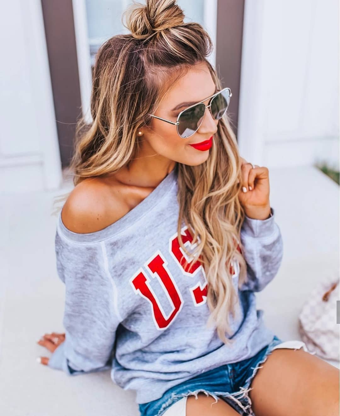 Off Shoulder Sweatshirt For Summer 2020