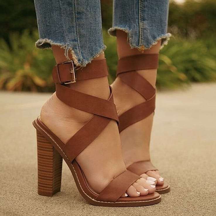 Block Heel Strappy Sandals For Summer 2019