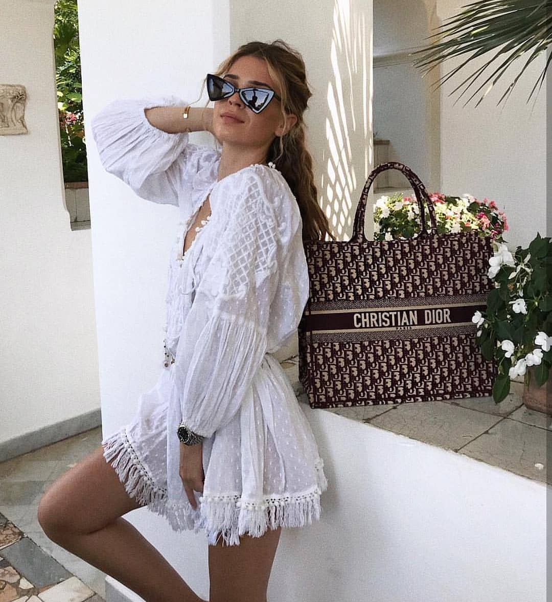 Boho Style Peasant White Dress For Your Next Summer Vacation 2019