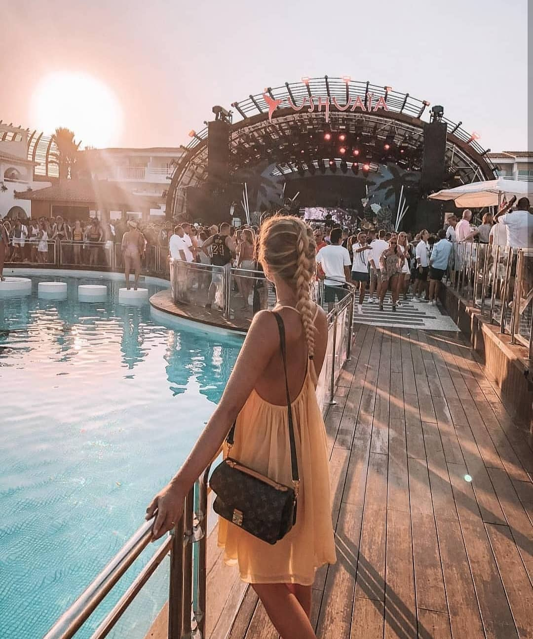 Pastel Orange Dress For Summer Poolside Parties 2021