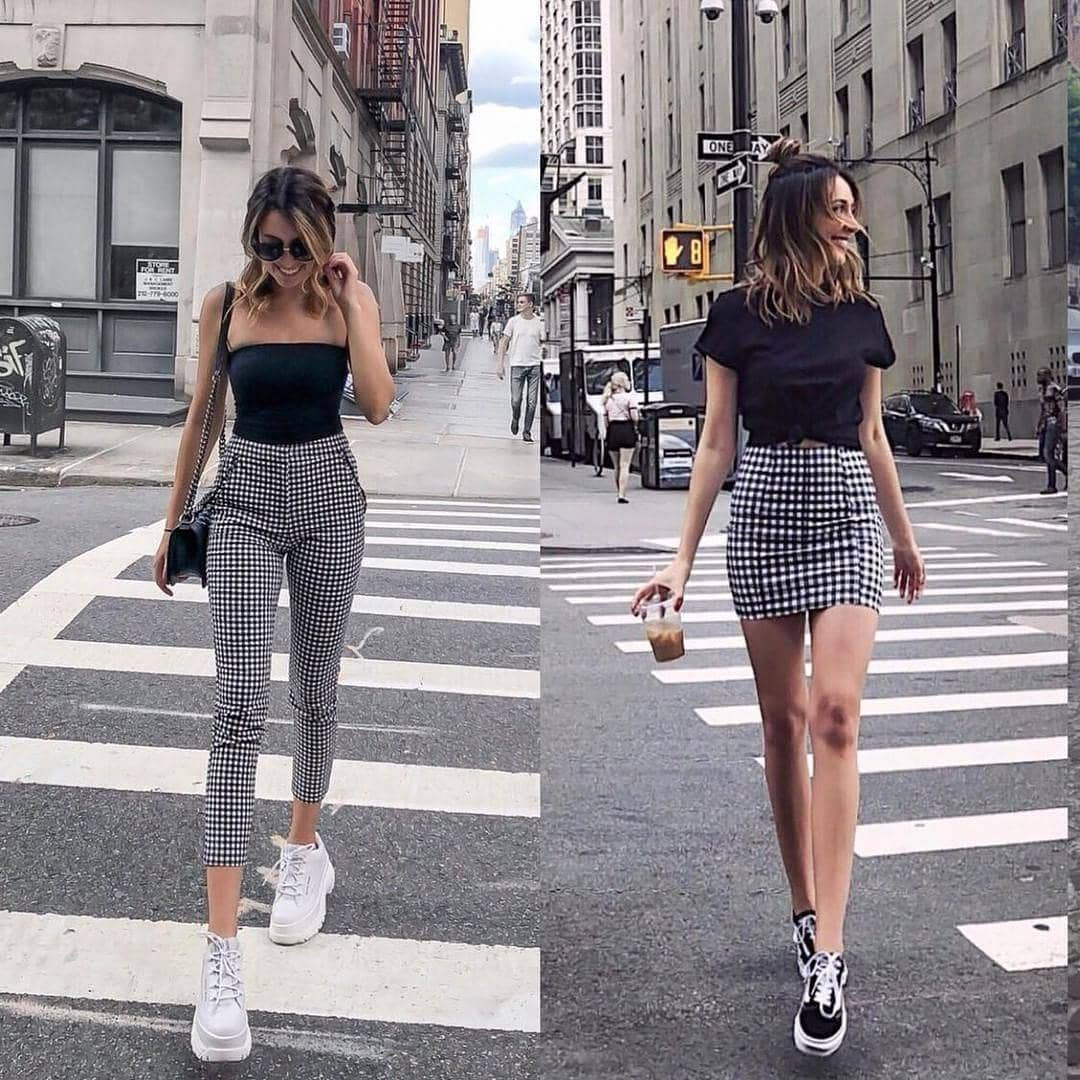 How To Wear Black-White Gingham Print Essentials For Summer City Walks 2020