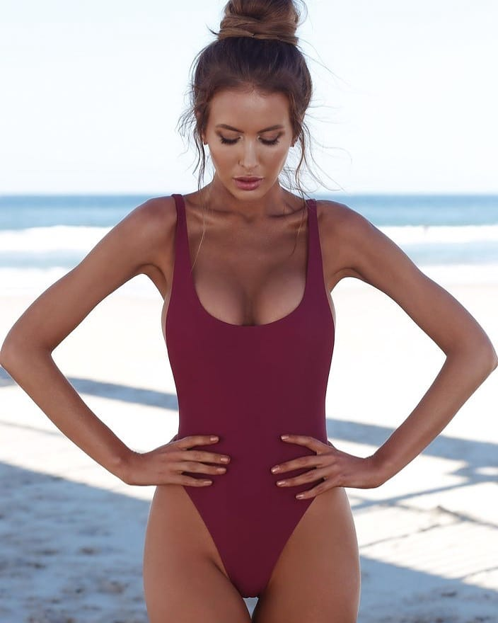 Maroon Swimsuit For Your Next Summer Getaway 2019