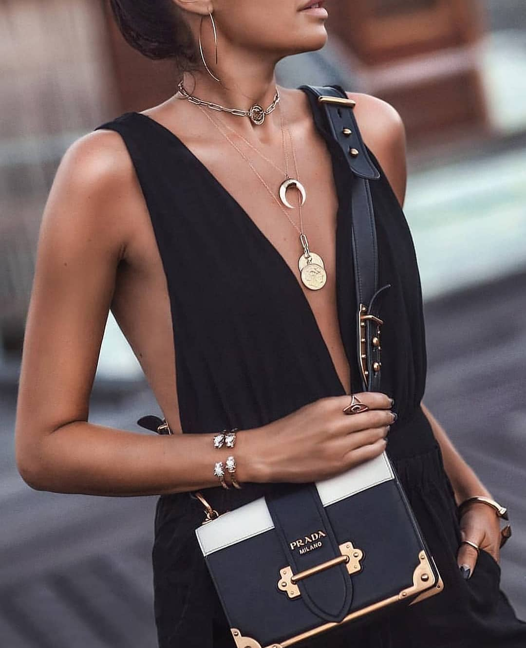 Sleeveless V-neck Romper In Black For Summer Garden Parties 2019