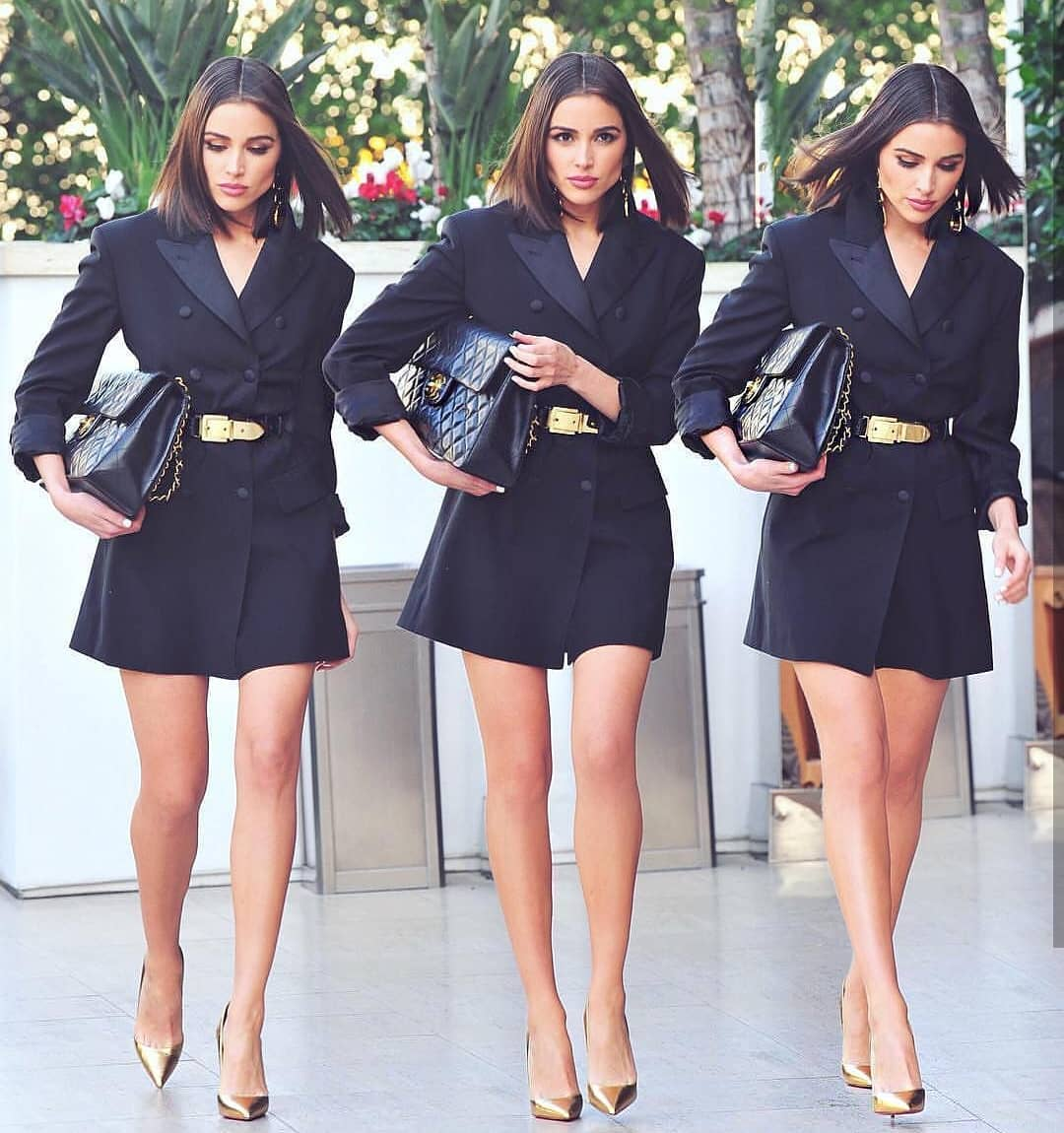 Belted Double Breasted Blazer Dress In Black For Summer In London 2019