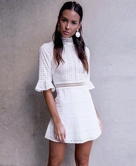 LWD With 1/2 Flared Sleeves: All White Summer Look 2020