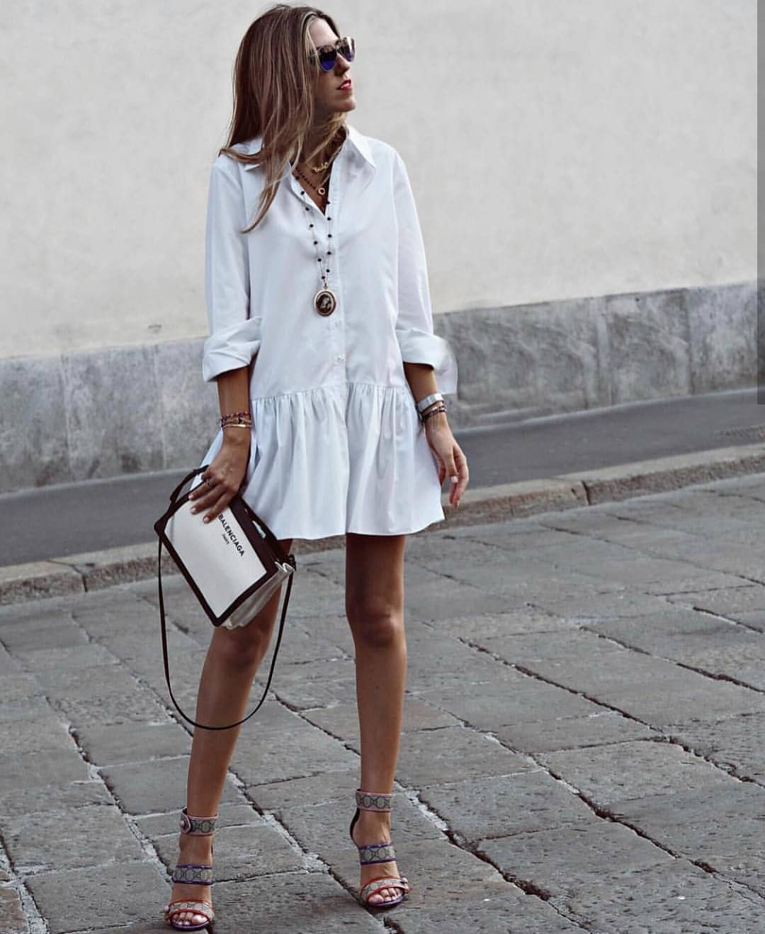 How To Complete Long Sleeve Shirtdress In White For Summer 2019