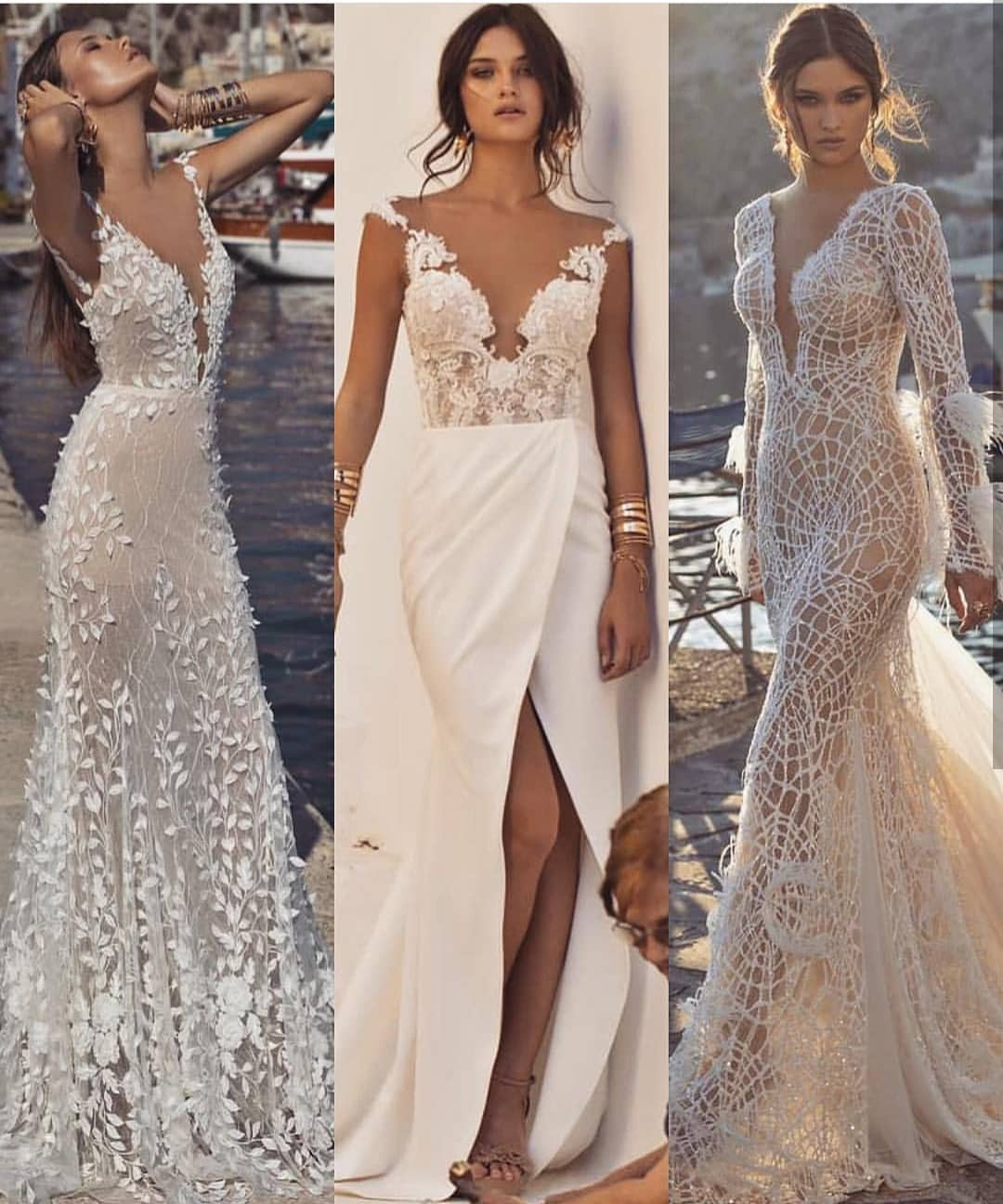 White Lace Wedding Gowns For Summer 2020