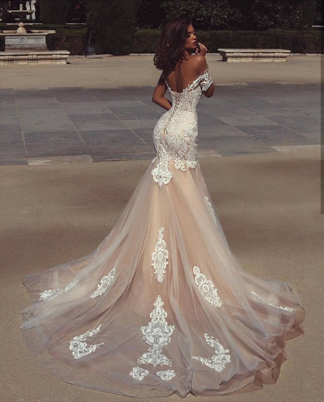Open Back White Wedding Gown For Summer 2020