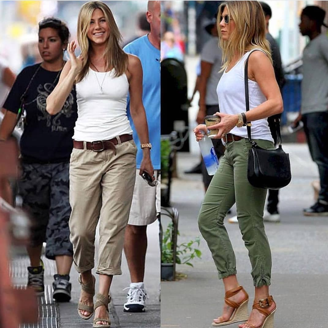 White Tank Top And Khaki Pants For Summer Casual Days 2020