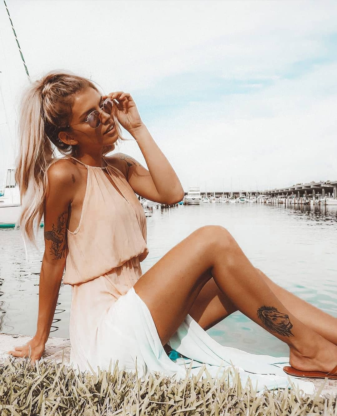 Grecian Style Blush Dress For Summer 2019
