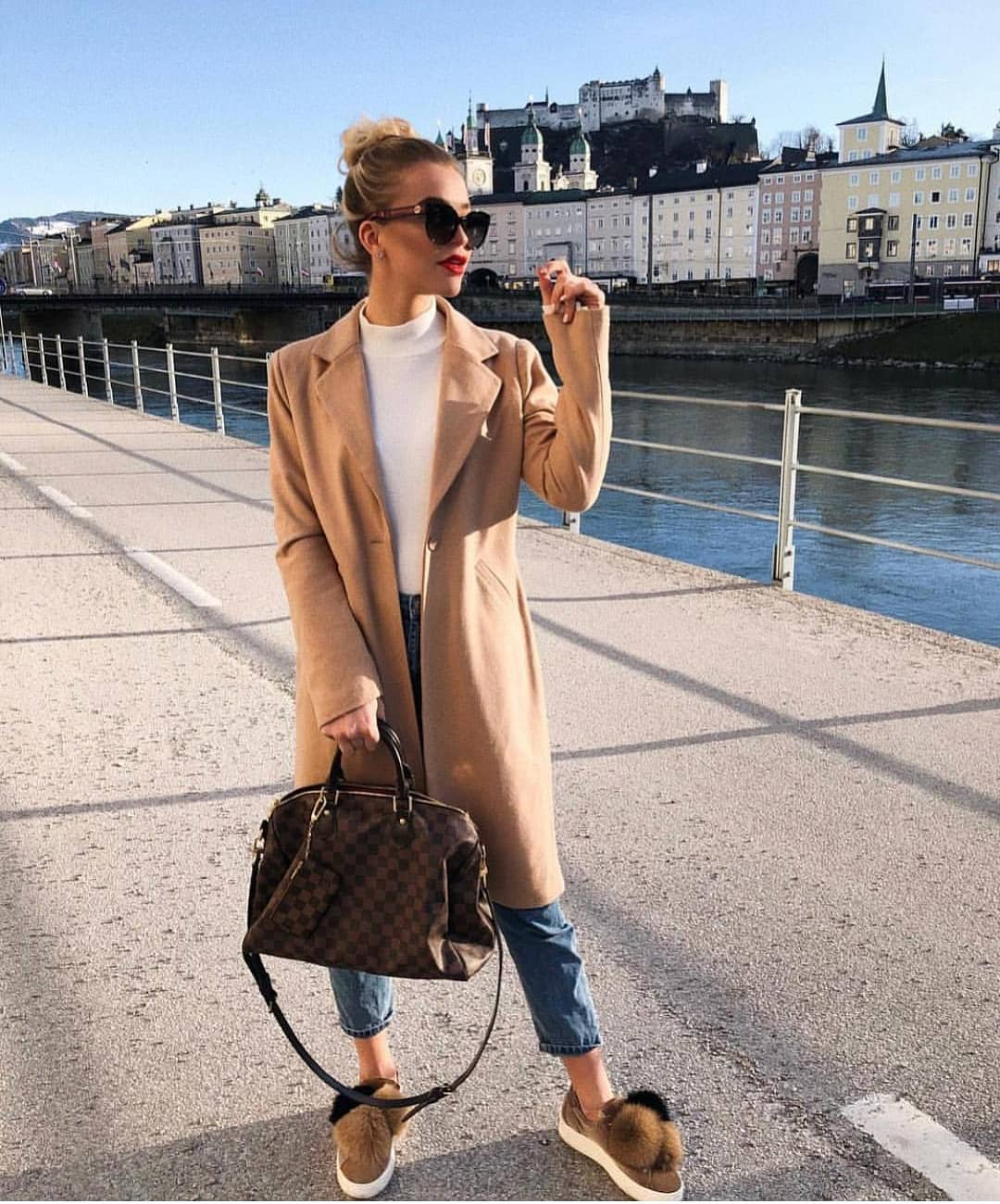 Camel Coat For Spring With Slim Jeans 2021